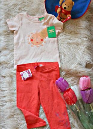 Новый набор для девочки: футболка + лосины, вещи в наличии💚+скидки, заходите💚