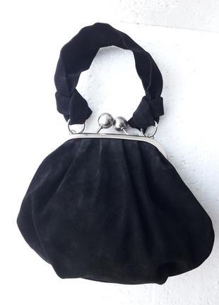 Брендовая замшевая шикарная сумочка