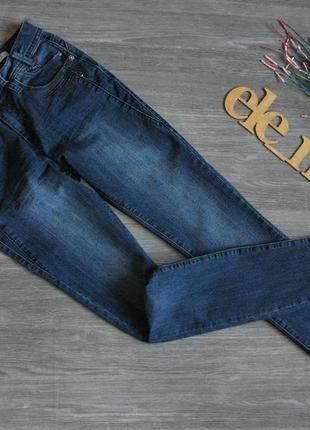 Базовые темно синие джинсы скинни eur 36