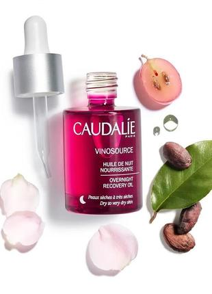 Масло для лица caudalie vinosource overnight recovery oil 30ml