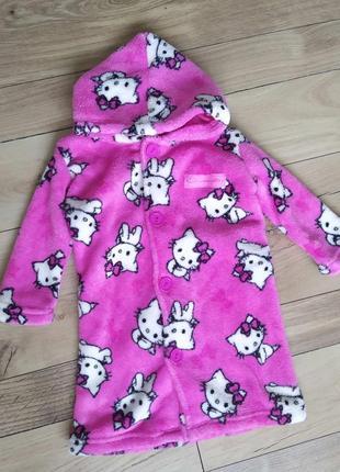 Теплый халат для девочки, 74 размер, 12 мес.
