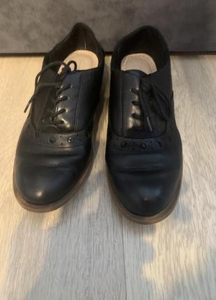 Туфли чёрные женские кожаные кларкс clark's 38 р 24 стелька
