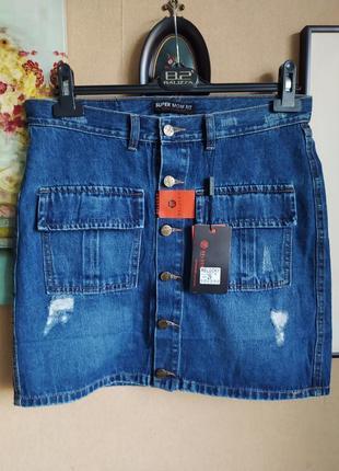 Джинсовая юбка 29 размер relucky
