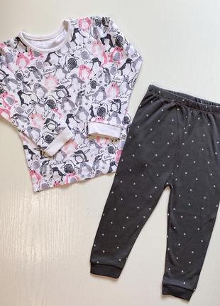 Шикарная пижама с пингвинами / пижамка для девочки george