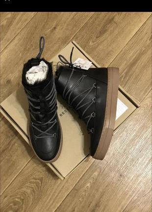 Кожаные ботинки reserved