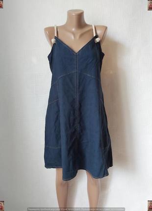 Фирменное asos джинсовое мини платье/сарафан в темно синем цвете, размер л-хл