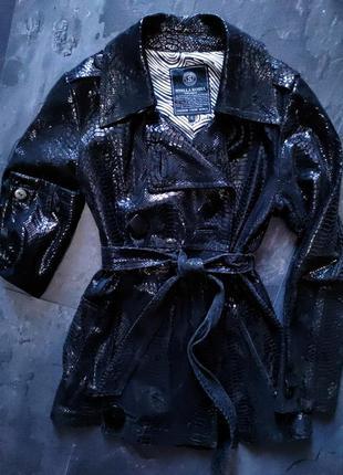 Куртка кожаная с лазерной обработкой от stella rossa.