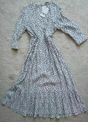 Новое платье zara в горошек