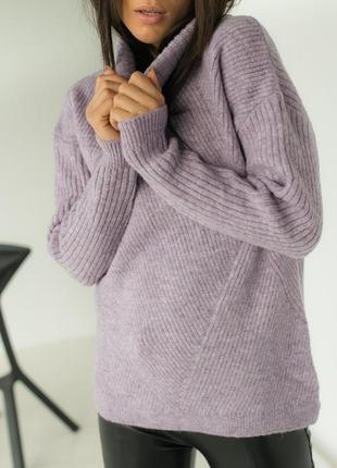 Невероятный свободный свитерок  с рисунком ромб