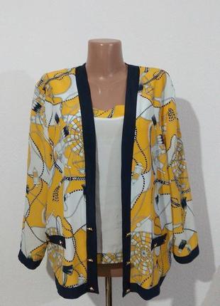 Шикарна вінтажна двійка блуза + кардиган