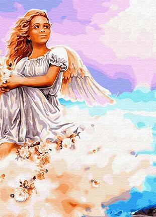 """Картина по номерах """"ангел на хмарі"""""""