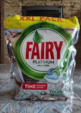 Фейрі капсули до посудомийної машини 70шт 1,043кг, fairy platinum для посудомийної машини
