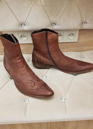 Мужские ботинки казаки кожа