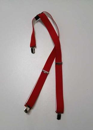 Подтяжки красные, на резинке, длина регул. сост. отличное!
