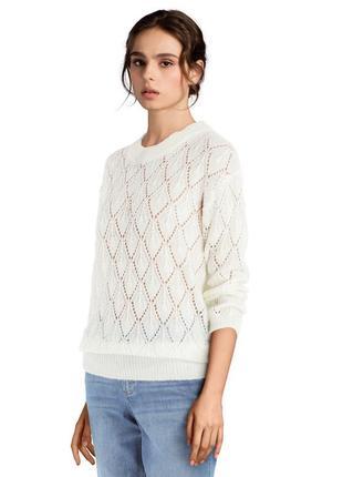 Нежный ажурный свитер kaffe