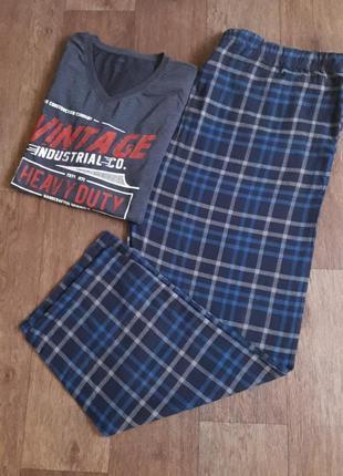 Теплая пижама домашний костюм штаны фланель кофта трикотаж livergy германия размер 60/62