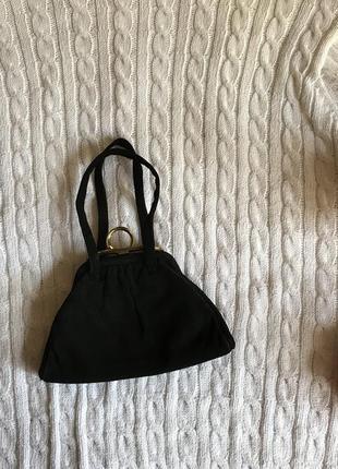 Замшевая микро сумочка