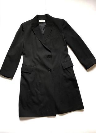 Шерстяное двубортное классическое пальто оригинал р.m-l