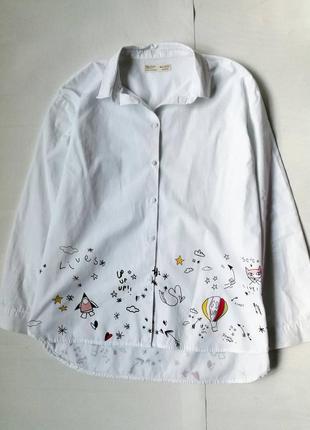 Блуза рубашка хлопок zara