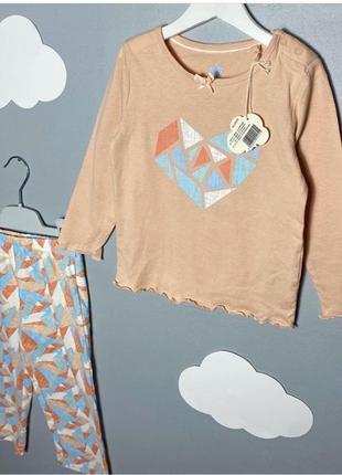 Пижама для девочки из органического хлопка