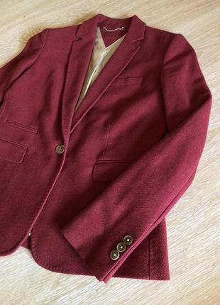 Шикарный структурный пиджак/ шерстяной пиджак / блейзер
