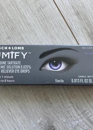 Bausch lomb lumify redness reliever eye drops глазные капли для снятия покраснения 0.4 мл