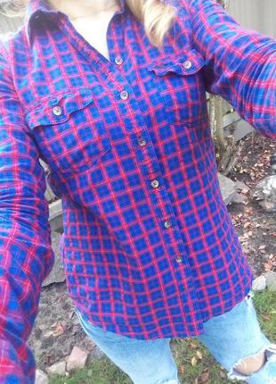 Рубашка в клетку abercrombie&fitch р.с новая