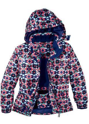 Красивая зимняя термо куртка . яркий принт146/152 lupilu (германия)