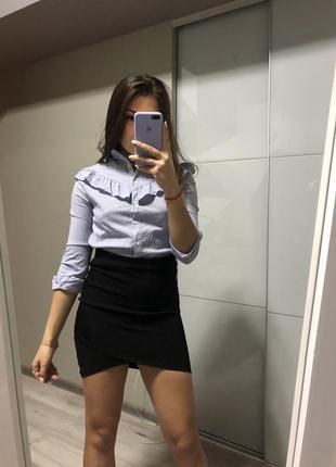 Бандажная чёрная юбка