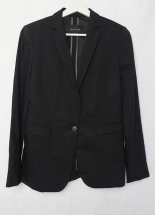 Massimo dutti женский шерстяной пиджак черный