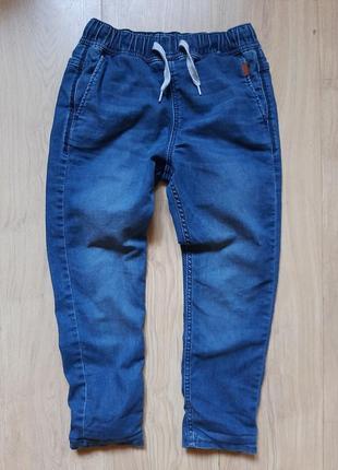 Тёплые джинсы h&m на 8-10 лет