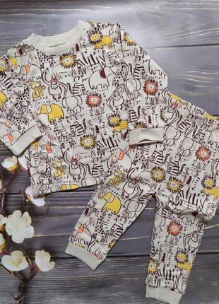 Пижама george, размер 9-12 мес 74-80 см