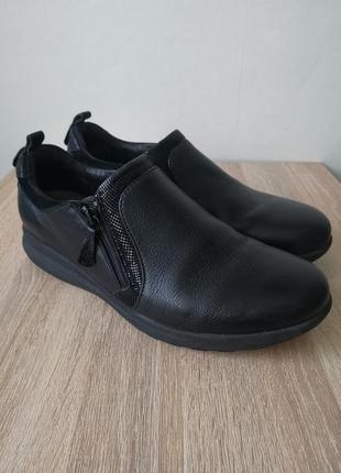 Clarks большите кожаные туфли - 43р-р