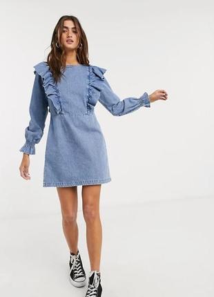 Джинсовое платье bershka - s, m