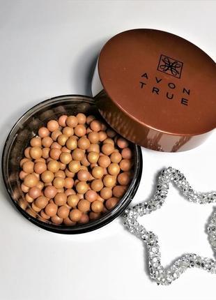 Румяна-шарики avon true glow bronzing pearls