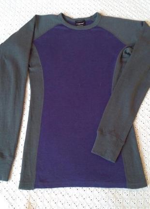 Термореглан з мериносової шерсті лонгслив термо футболка термобілизна термобелье шерстяное