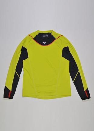Беговая джерси, футболка, термобелье mizuno breath thermo crew 67sp-350