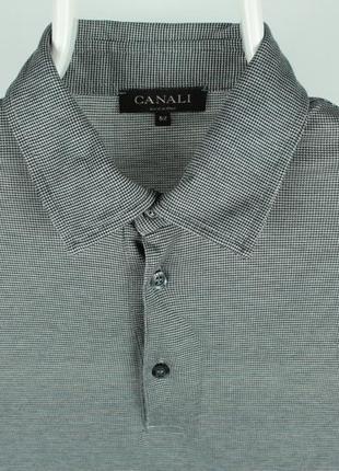 Шикарный оригинальный лонг canali long sleeve polo shirt