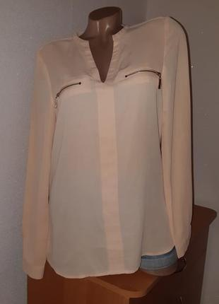 Блуза пудрового цвета из шифона