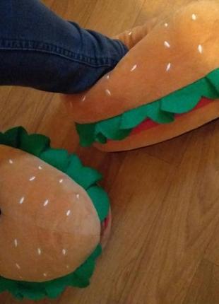 Смешные тапки бургеры