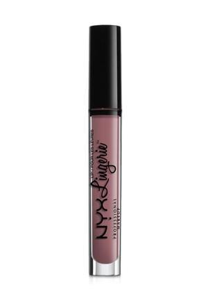 Блеск для губ nyx professional makeup lip lingerie gloss