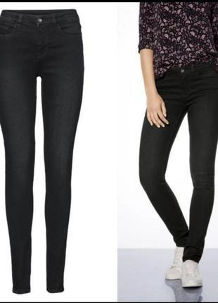 Чёрные джинсы скинни esmara 42 немецкий средняя посадка