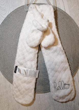 Комплект шарф + варежки