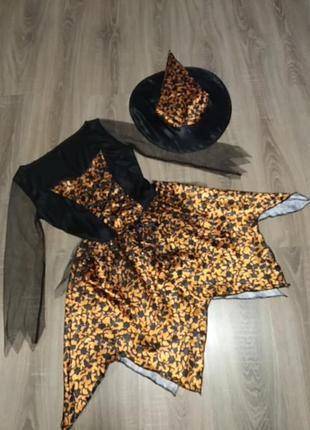 Платье и шляпа на хеллоуин