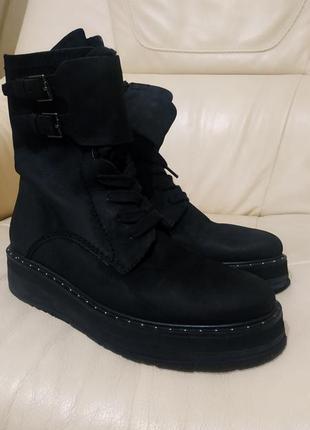 Фирменные ботинки altraofficina25см .кожа.