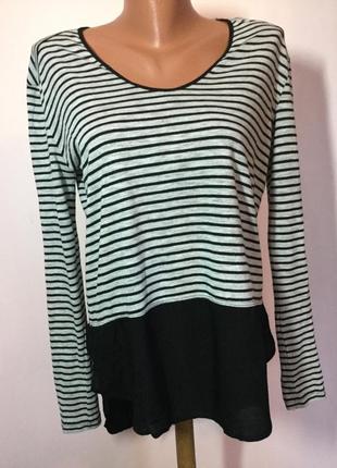 Фирменная полосатая футболка /m/ brend zara