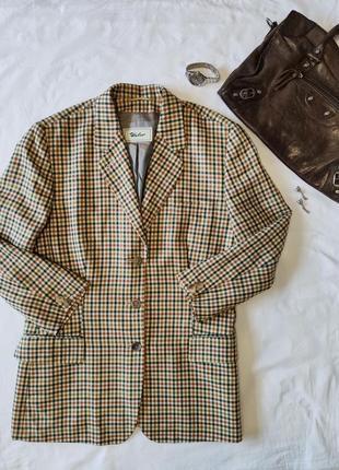 Идеальный кашемировый однобортный пиджак в мелкую клетку windsor eur 42