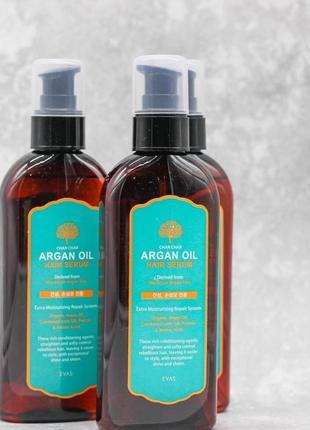 🔆сыворотка для волос аргановая evas char char argan oil hair serum, 200 ml