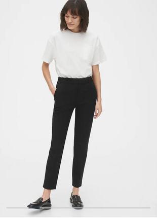 Базовые котоновые чёрные штаны брюки gap