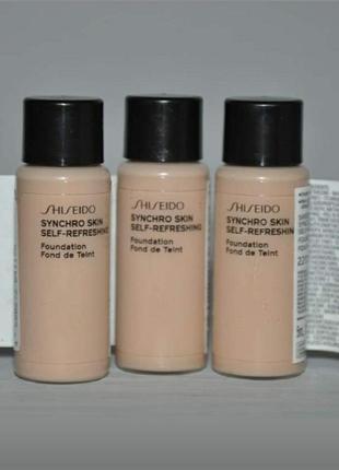 Стойкий тональный крем shiseido synchro skin оттенок 220 миниформат 5 ml